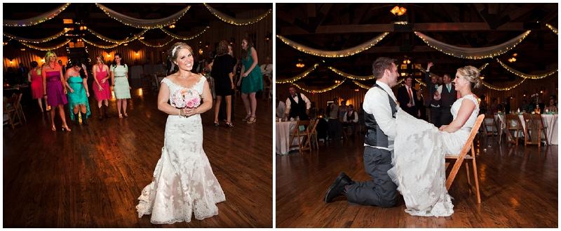 bouquet and garter toss