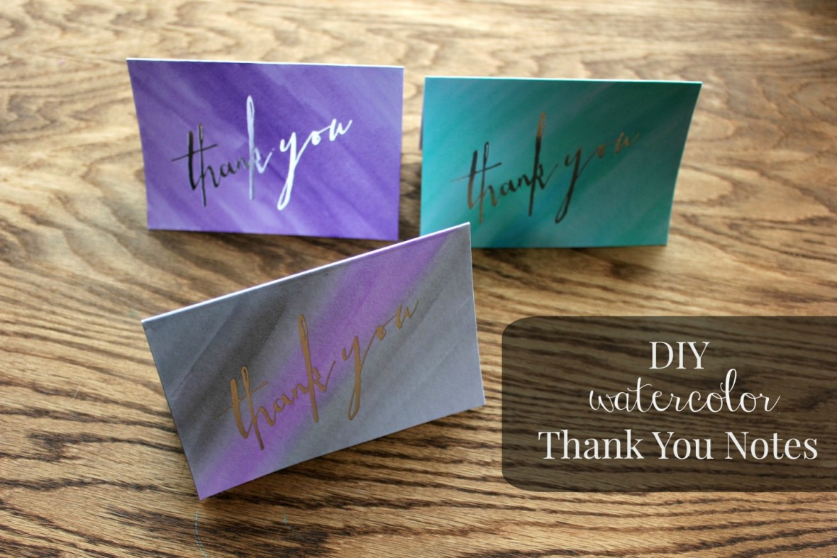 DIY Thank You Notes. Posted June 9, 2015 by Macy |. Watercolor_thankyou