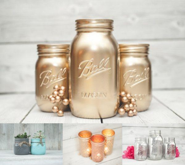 Decorative Mason Jars from KA Styles on Etsy