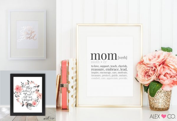 mothers day wall art prints