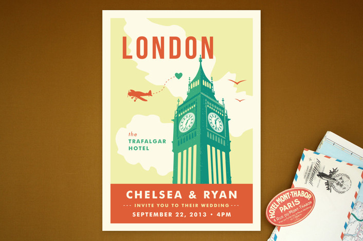 printable wedding invitation from minted