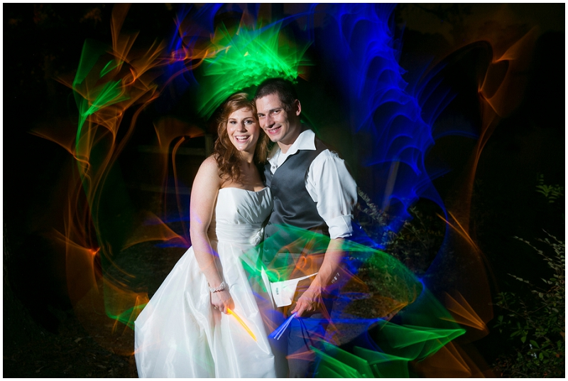 wedding glow stick photos