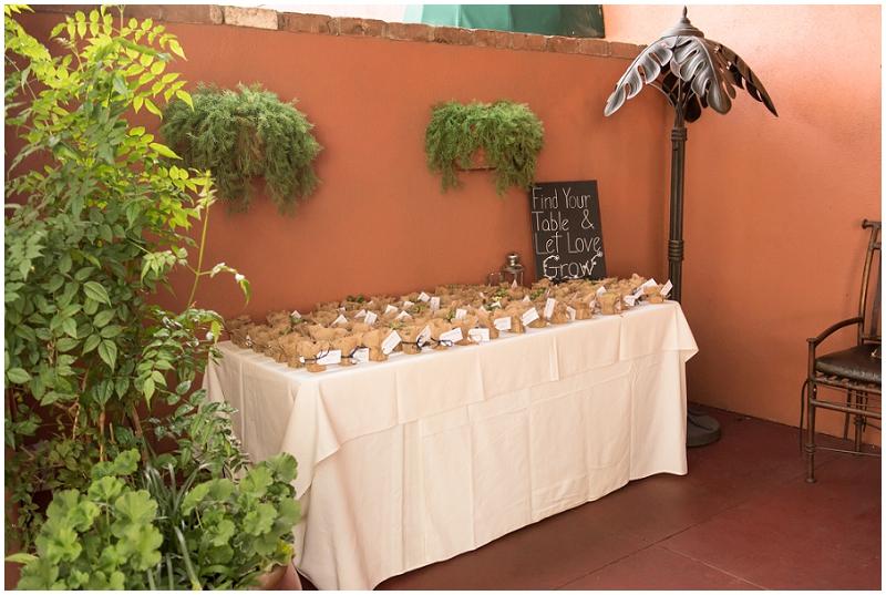 succulent plant wedding favors