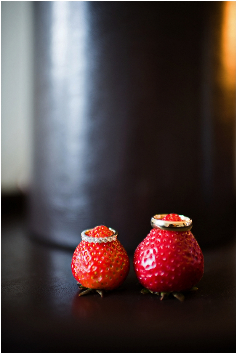 strawberry wedding ring photos