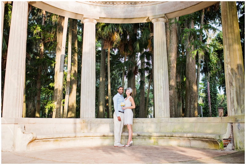 column wedding photos