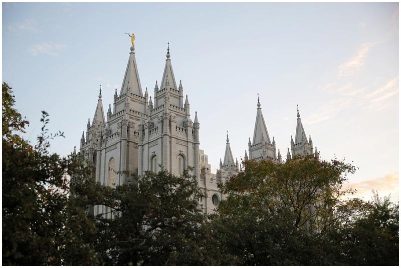Mormon temple wedding