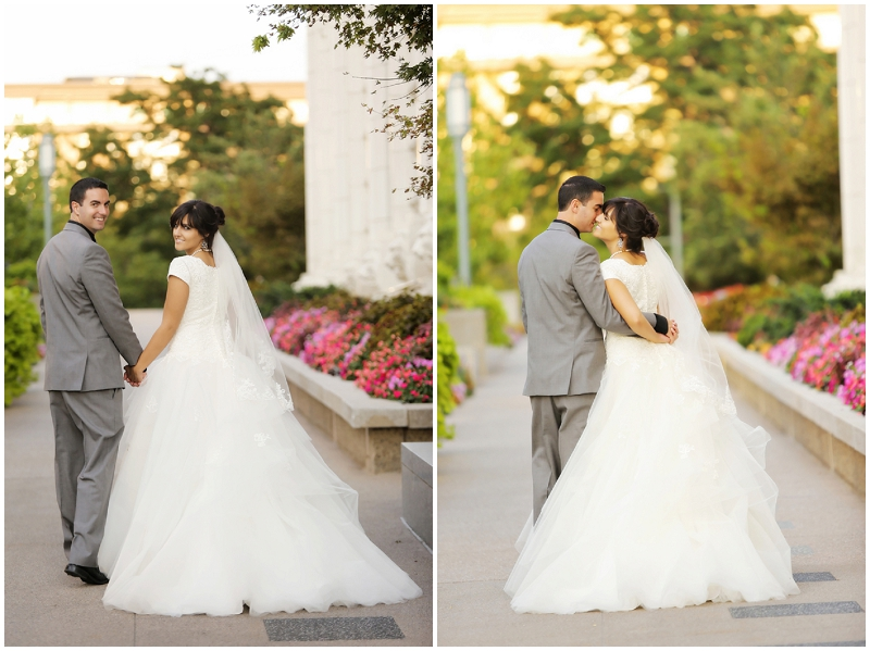 bride and groom post ceremony photos
