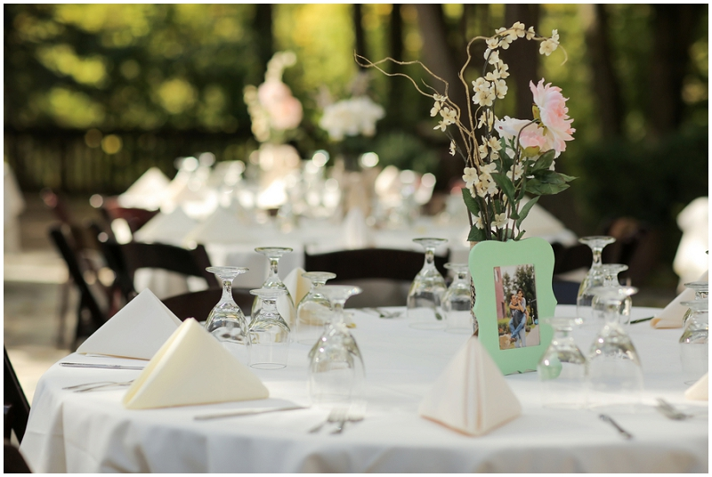 mint and pink table decor