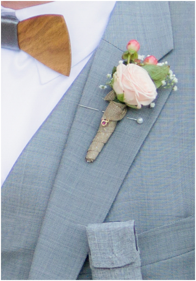 gray groom attire