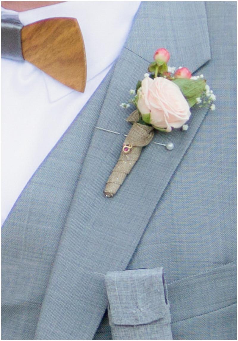 gray groom attire