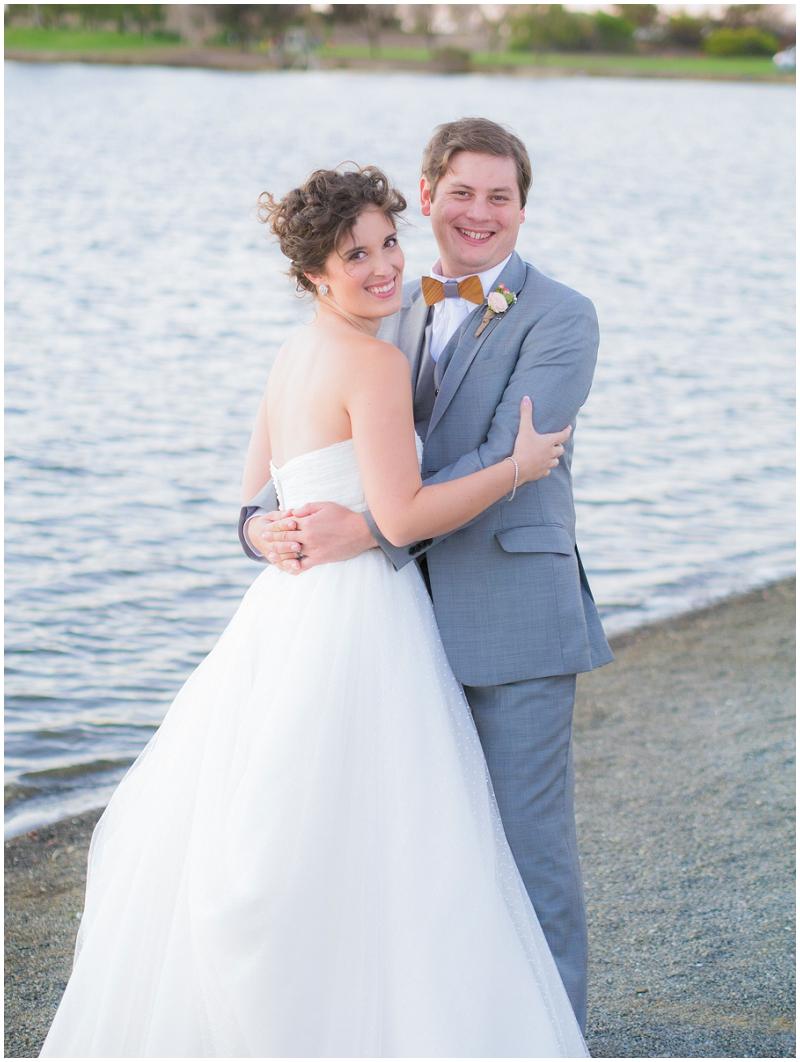 beach bride and groom wedding photos
