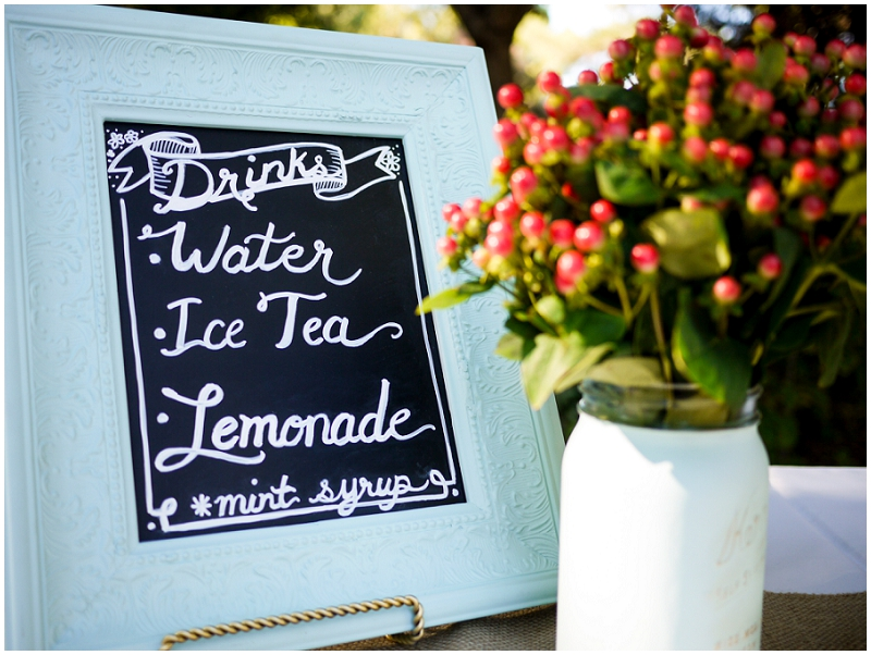 chalkboard beverage sign