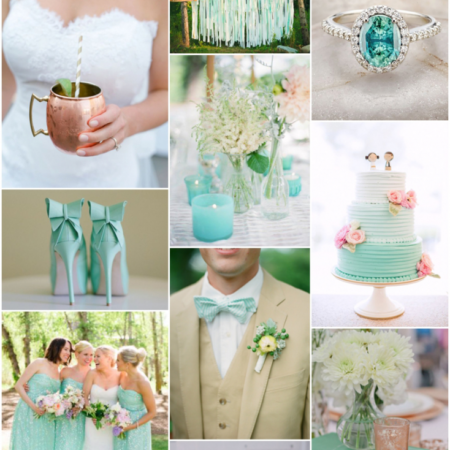 Minty Wedding Inspiration from Minted