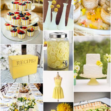 Yellow Bridal Shower Inspiration