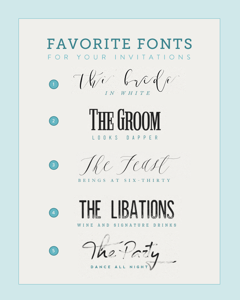 Five Fonts for DIY Wedding Invitations | The Budget Savvy Bride