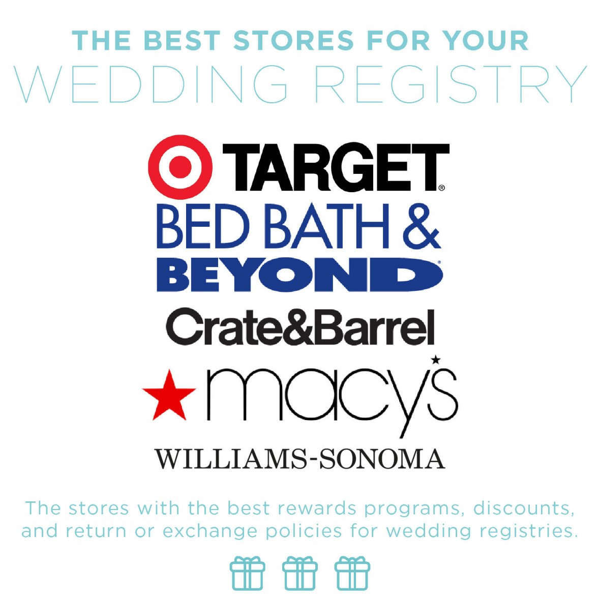 best stores to set up a wedding registry budget weddings