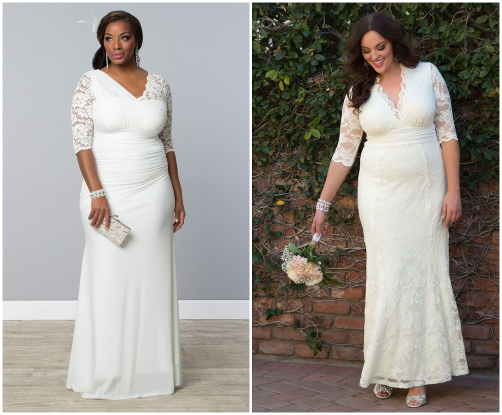 classic wedding dress plus size