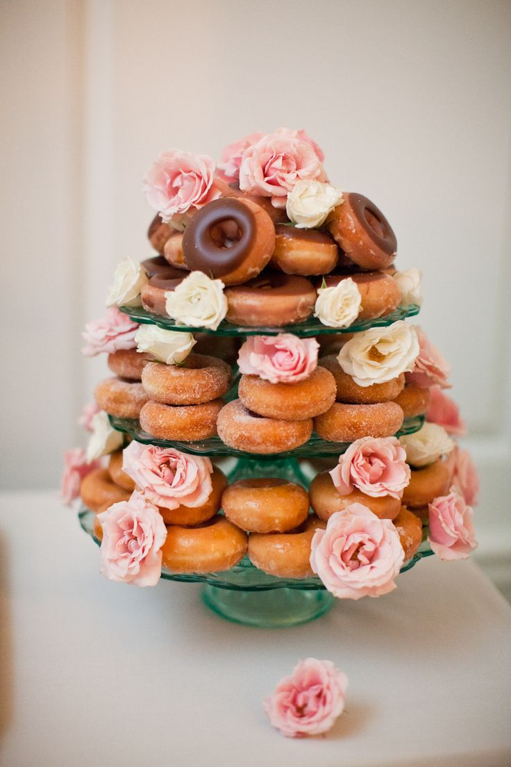 donut wedding cake / donut cake