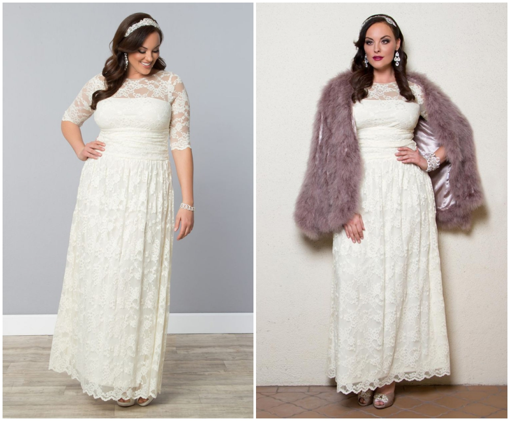 glamorous plus size wedding gown