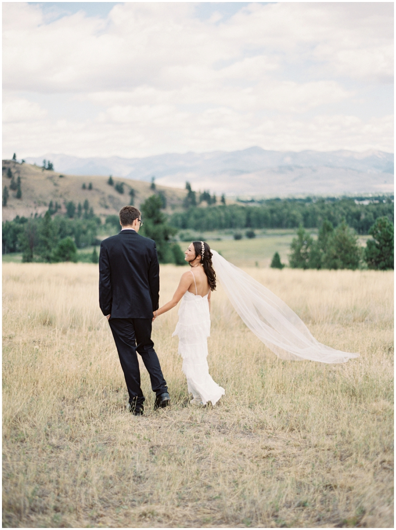 Montana outdoor wedding photos