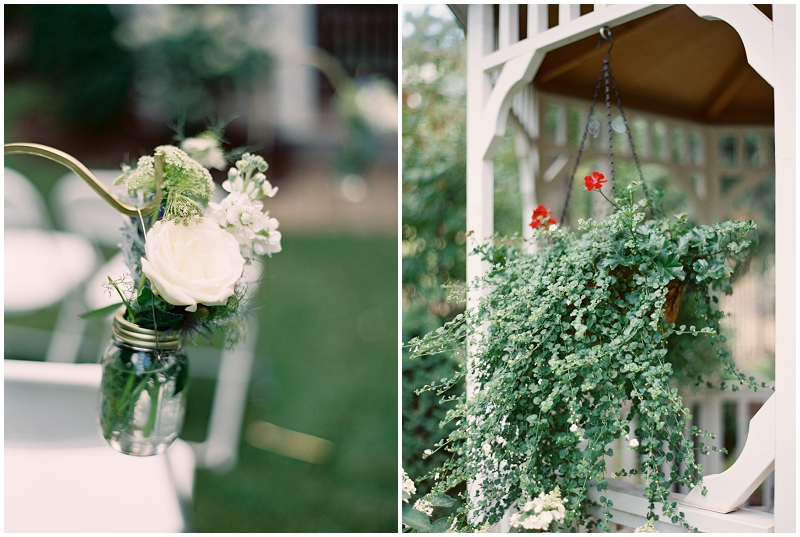 simple outdoor wedding details