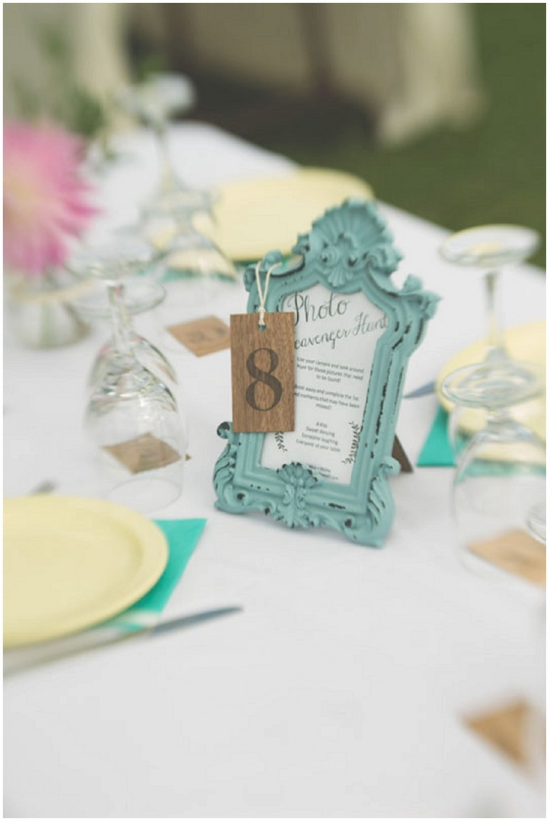 reception table numbers