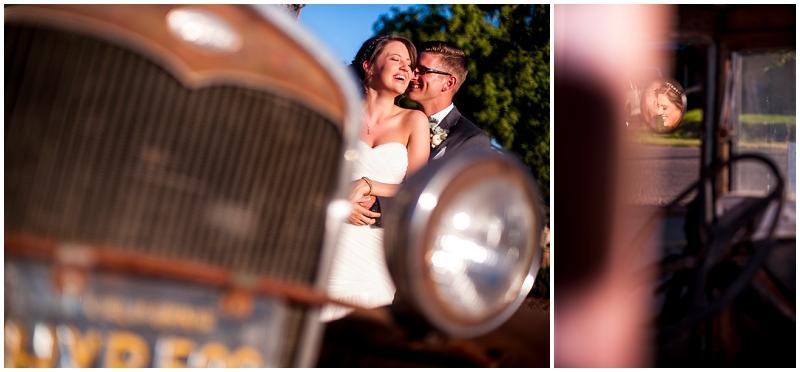 vintage truck wedding photos