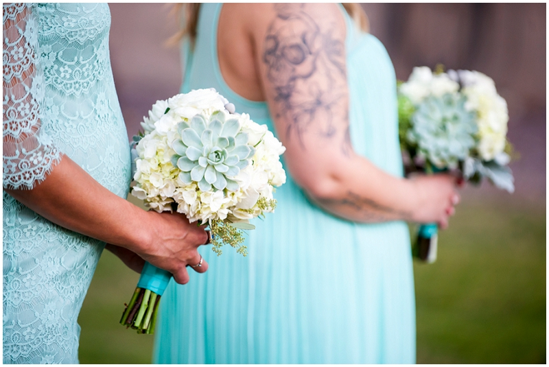 white and succulent bouquets
