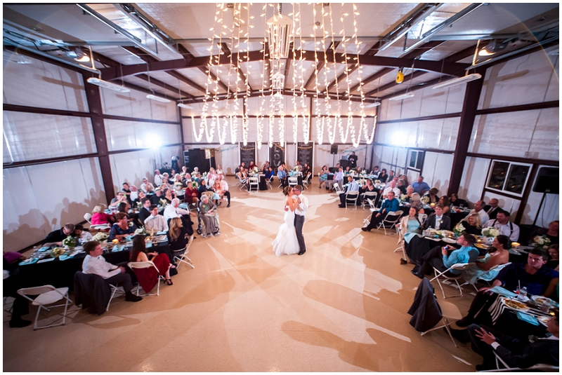 industrial barn wedding reception