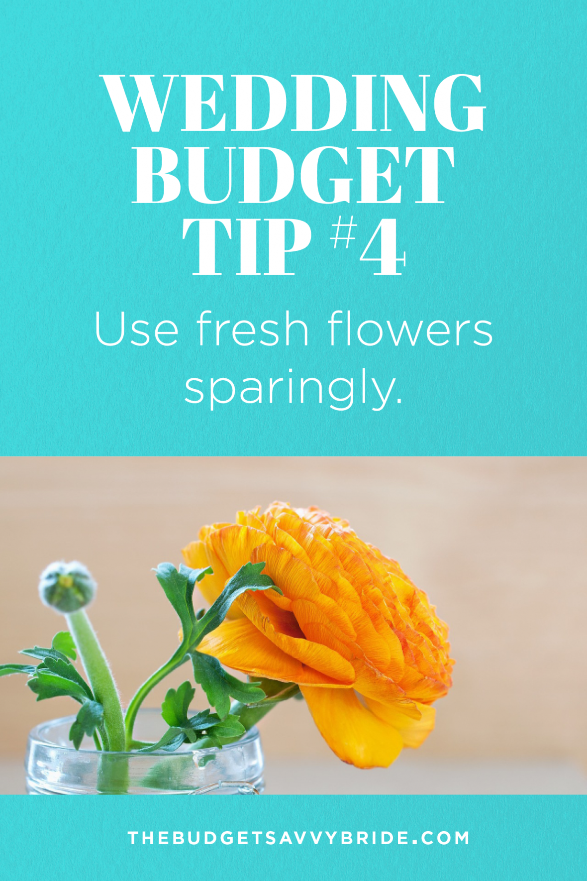 Wedding Budget Tip #4: Use Fresh Flowers Sparingly