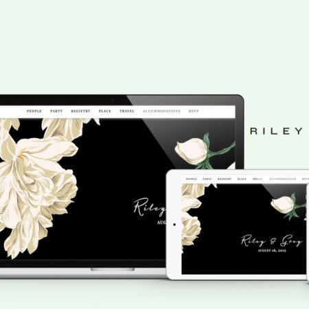 Riley and Grey Wedding Website Designs