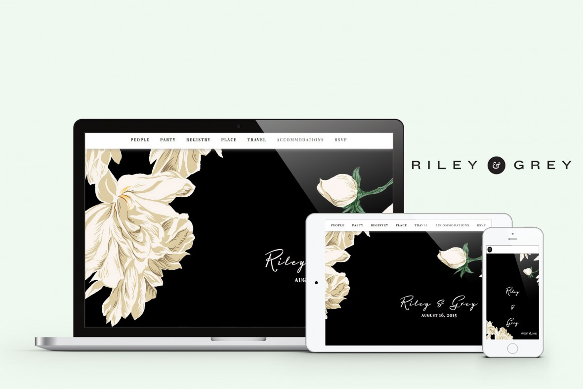 wedding website samples