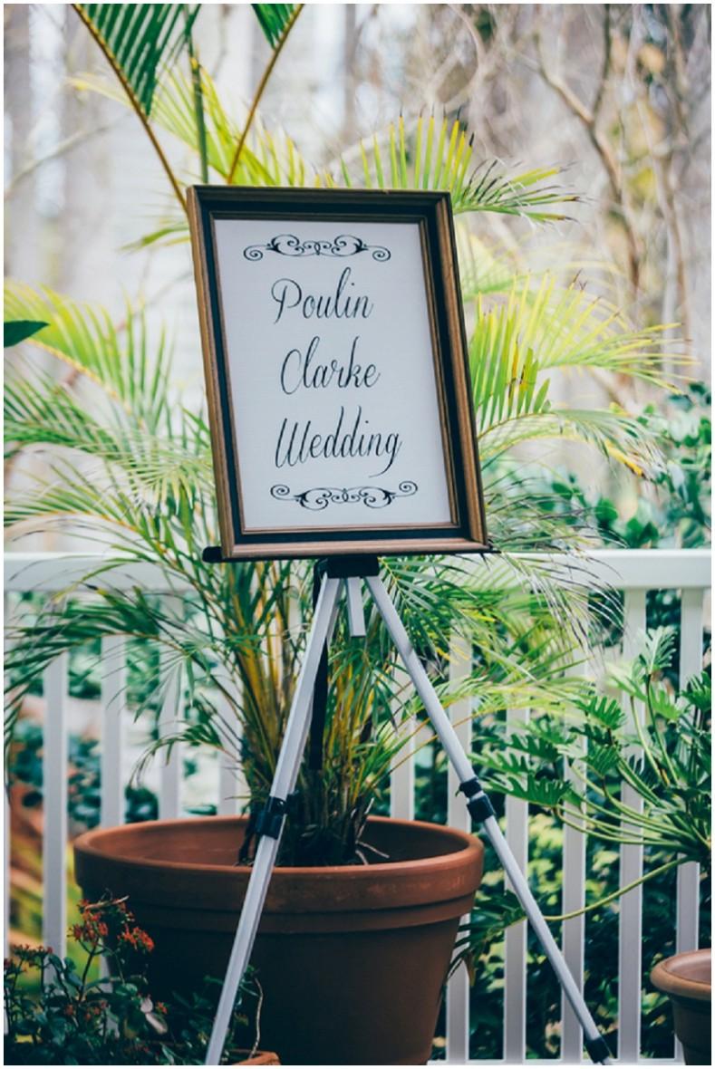 printed wedding signage