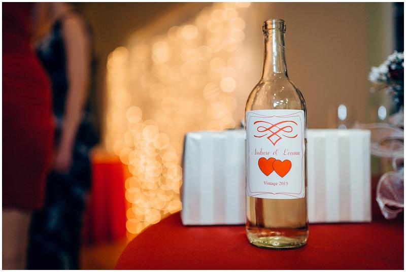 wedding reception wine