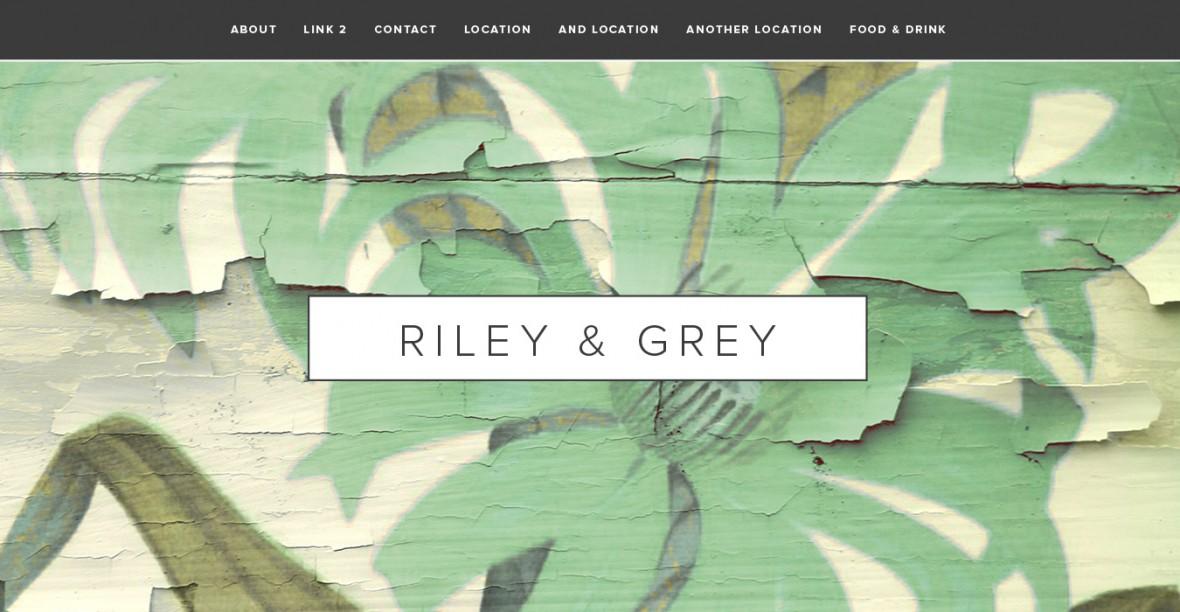 Riley and Grey Wedding Website Designs