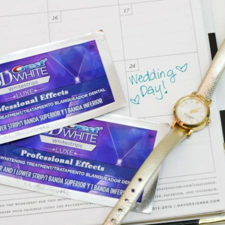 Use Crest Whitestrips to Whiten Your Teeth for your Wedding Day