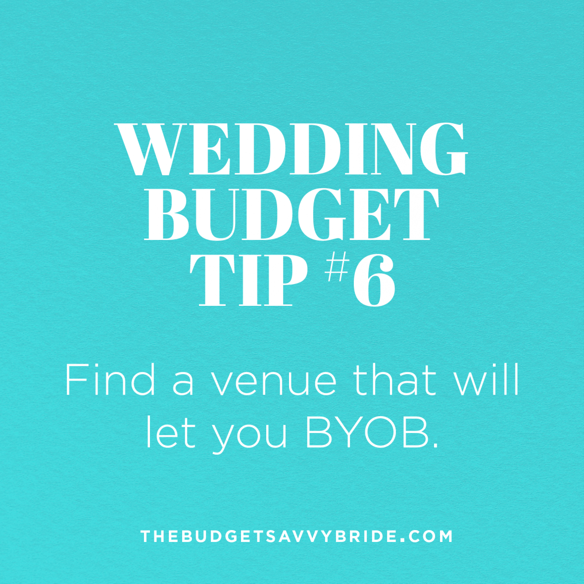 Bring your own booze for the wedding reception to save BIG money