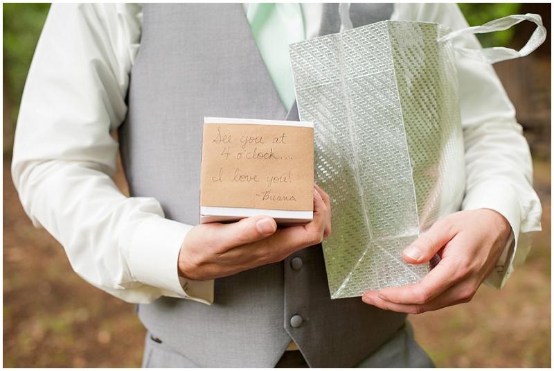 bride and groom wedding presents