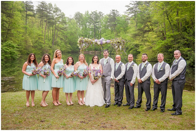 turquoise and gray wedding party
