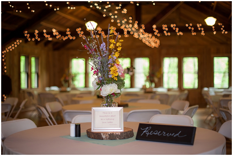state park wedding reception
