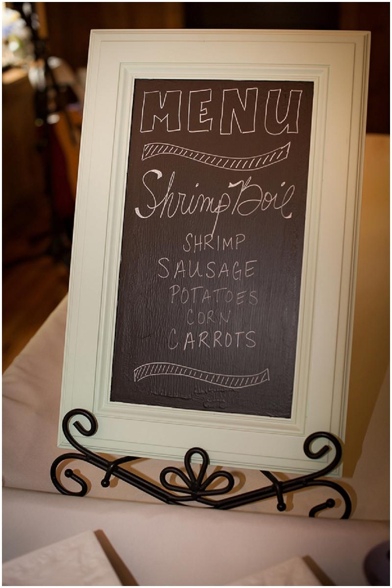 shrimp boil wedding reception