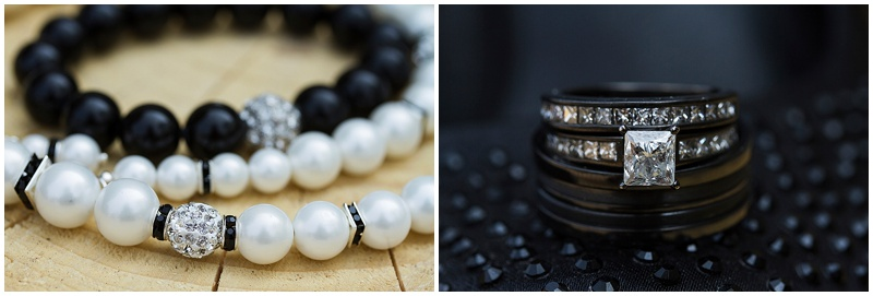 black and white wedding accessories