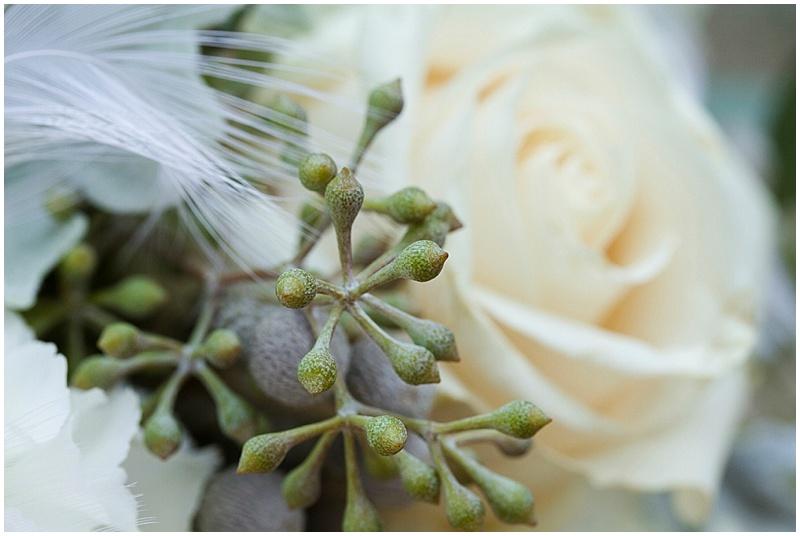 cream and soft green wedding bouquet