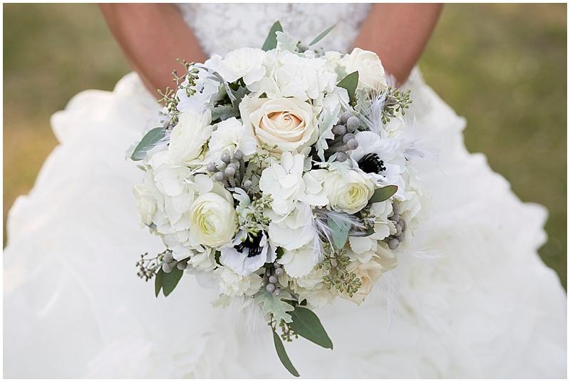 Black white and gray wedding the budget savvy bride white and gray wedding bouquet mightylinksfo