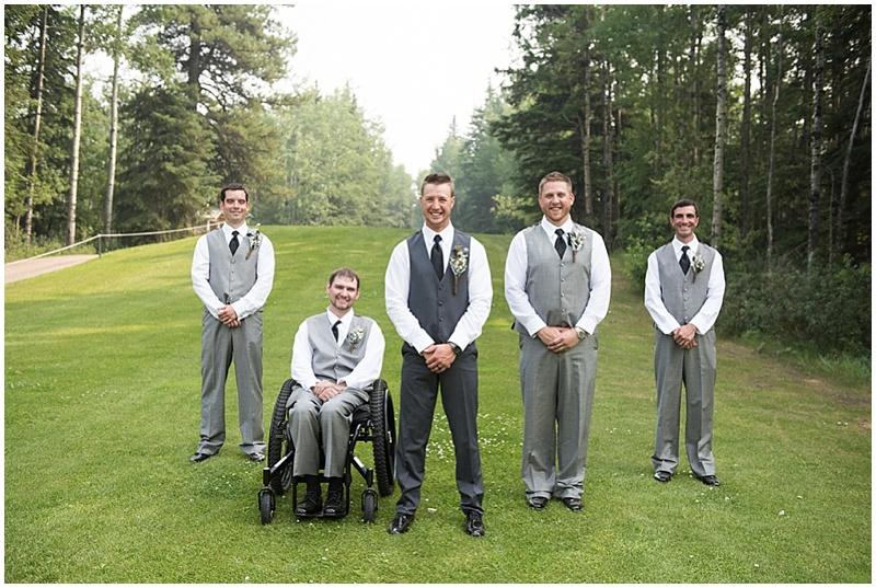 gray wedding attire