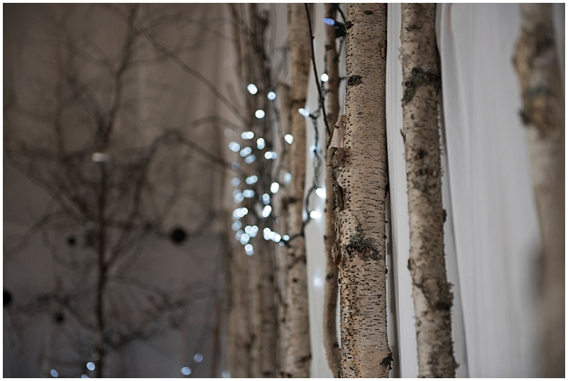birch tree wedding decor