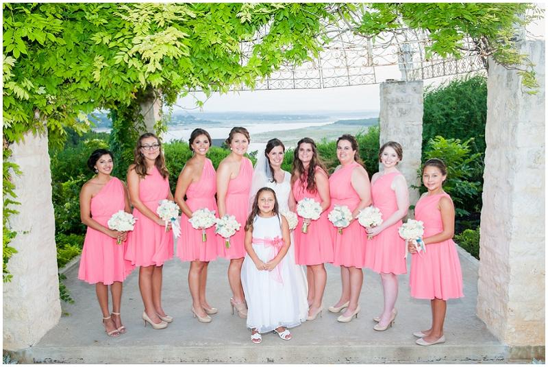 coral bridesmaid attire