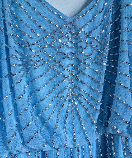 beachy blue bridesmaids dresses- Adrianna Papell Bridesmaids Dress