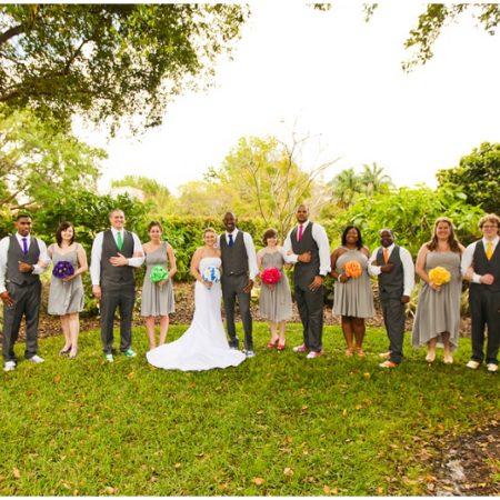 rainbow themed wedding colors