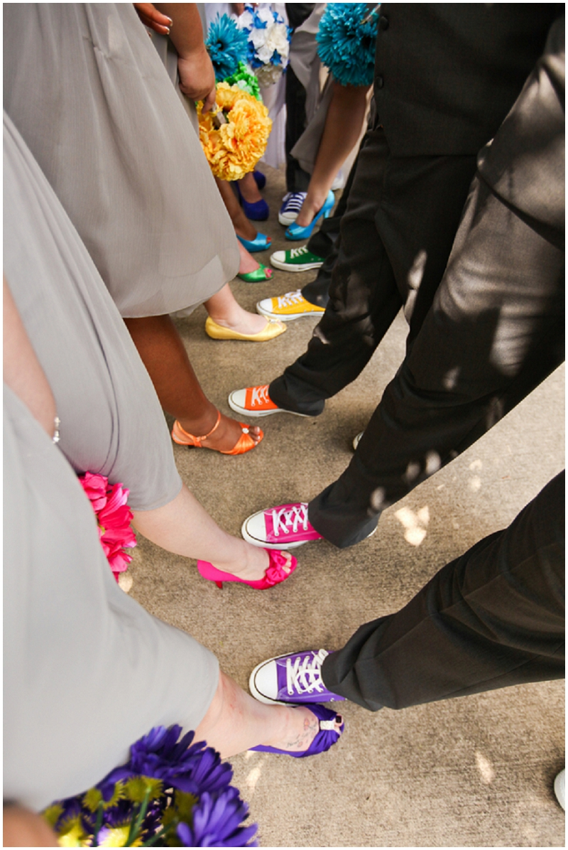 coordinated wedding shoes